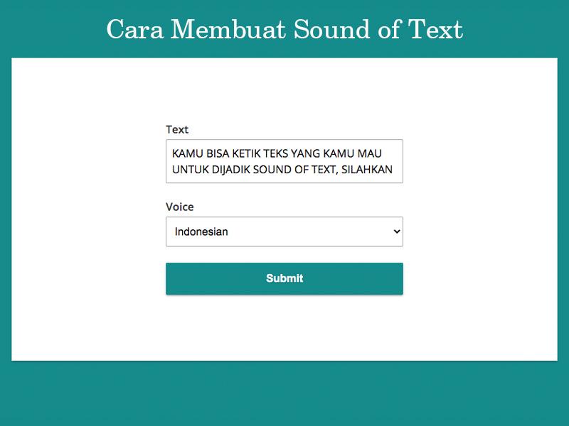 Sound of Text WA